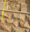 отделка фасада здания песчаником