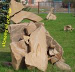 Камень песчаник, Каменные глыбы